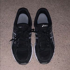 Black Asics sneakers